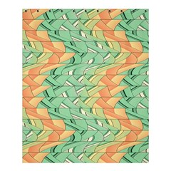 Emerald And Salmon Pattern Shower Curtain 60  X 72  (medium)  by linceazul