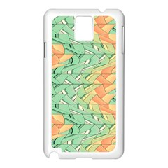 Emerald And Salmon Pattern Samsung Galaxy Note 3 N9005 Case (white) by linceazul