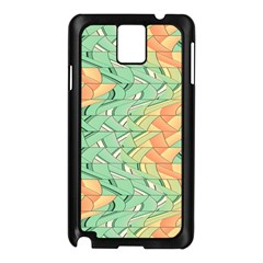Emerald And Salmon Pattern Samsung Galaxy Note 3 N9005 Case (black) by linceazul
