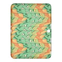 Emerald And Salmon Pattern Samsung Galaxy Tab 4 (10 1 ) Hardshell Case  by linceazul