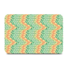 Emerald And Salmon Pattern Plate Mats by linceazul