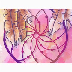 Watercolor Cute Dreamcatcher With Feathers Background Canvas 36  X 48   by TastefulDesigns