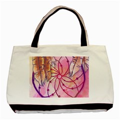 Watercolor Cute Dreamcatcher With Feathers Background Basic Tote Bag (two Sides) by TastefulDesigns