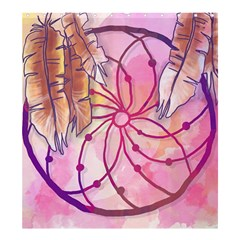 Watercolor Cute Dreamcatcher With Feathers Background Shower Curtain 66  X 72  (large)  by TastefulDesigns