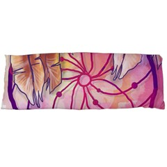 Watercolor Cute Dreamcatcher With Feathers Background Body Pillow Case Dakimakura (two Sides) by TastefulDesigns