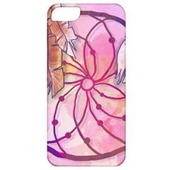 Watercolor Cute Dreamcatcher With Feathers Background Apple Iphone 5 Classic Hardshell Case by TastefulDesigns