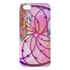 Watercolor Cute Dreamcatcher With Feathers Background Apple Iphone 5 Premium Hardshell Case by TastefulDesigns