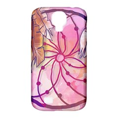 Watercolor Cute Dreamcatcher With Feathers Background Samsung Galaxy S4 Classic Hardshell Case (pc+silicone) by TastefulDesigns