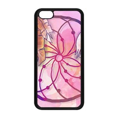 Watercolor Cute Dreamcatcher With Feathers Background Apple Iphone 5c Seamless Case (black) by TastefulDesigns