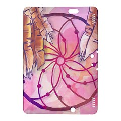 Watercolor Cute Dreamcatcher With Feathers Background Kindle Fire Hdx 8 9  Hardshell Case by TastefulDesigns