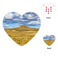 Patagonian Landscape Scene, Argentina Playing Cards (heart)  by dflcprints