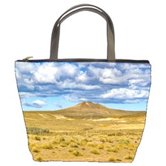 Patagonian Landscape Scene, Argentina Bucket Bags by dflcprints