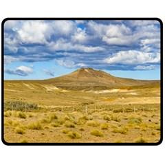 Patagonian Landscape Scene, Argentina Double Sided Fleece Blanket (medium)  by dflcprints