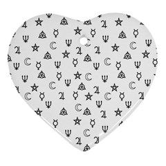 Witchcraft Symbols  Heart Ornament (two Sides) by Valentinaart