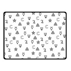 Witchcraft Symbols  Fleece Blanket (small) by Valentinaart