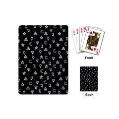 Witchcraft Symbols  Playing Cards (mini)  by Valentinaart