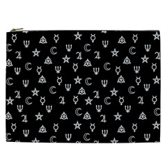 Witchcraft Symbols  Cosmetic Bag (xxl)  by Valentinaart