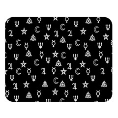 Witchcraft Symbols  Double Sided Flano Blanket (large)  by Valentinaart