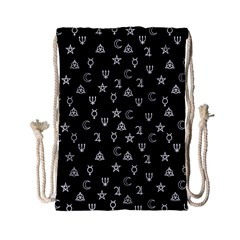 Witchcraft Symbols  Drawstring Bag (small) by Valentinaart