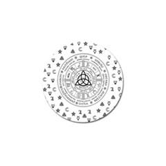 Witchcraft Symbols  Golf Ball Marker by Valentinaart