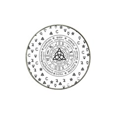 Witchcraft Symbols  Hat Clip Ball Marker by Valentinaart