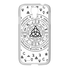 Witchcraft Symbols  Samsung Galaxy S4 I9500/ I9505 Case (white) by Valentinaart