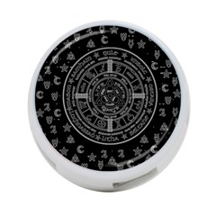 Witchcraft Symbols  4 Port Usb Hub (two Sides)  by Valentinaart