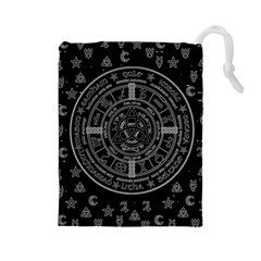 Witchcraft Symbols  Drawstring Pouches (large)  by Valentinaart