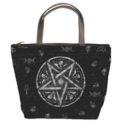 Witchcraft Symbols  Bucket Bags by Valentinaart