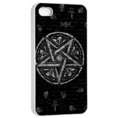 Witchcraft Symbols  Apple Iphone 4/4s Seamless Case (white) by Valentinaart