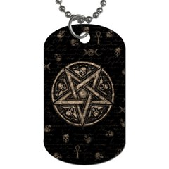 Witchcraft Symbols  Dog Tag (two Sides) by Valentinaart