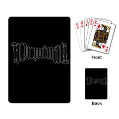 Illuminati Playing Card by Valentinaart