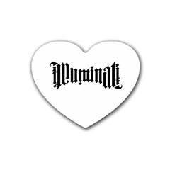 Illuminati Heart Coaster (4 Pack)  by Valentinaart