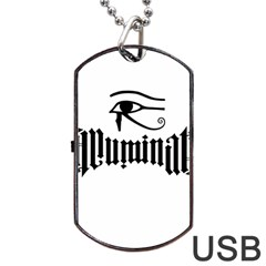 Illuminati Dog Tag Usb Flash (one Side) by Valentinaart
