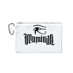 Illuminati Canvas Cosmetic Bag (s) by Valentinaart