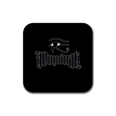 Illuminati Rubber Coaster (square)  by Valentinaart
