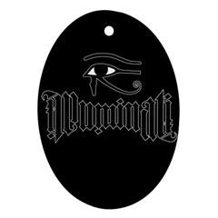 Illuminati Oval Ornament (two Sides) by Valentinaart