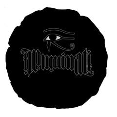 Illuminati Large 18  Premium Round Cushions by Valentinaart