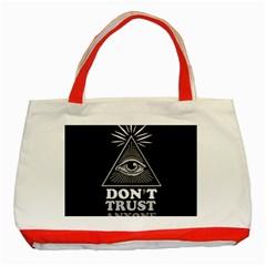Illuminati Classic Tote Bag (red) by Valentinaart