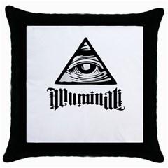 Illuminati Throw Pillow Case (black) by Valentinaart