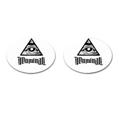 Illuminati Cufflinks (oval) by Valentinaart