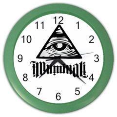Illuminati Color Wall Clocks by Valentinaart