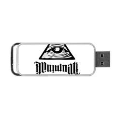 Illuminati Portable Usb Flash (two Sides) by Valentinaart
