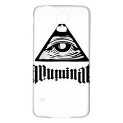 Illuminati Samsung Galaxy S5 Back Case (white) by Valentinaart