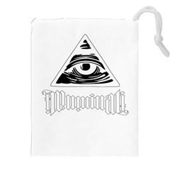Illuminati Drawstring Pouches (xxl) by Valentinaart