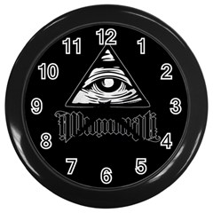 Illuminati Wall Clocks (black) by Valentinaart