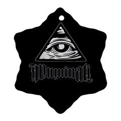 Illuminati Ornament (snowflake) by Valentinaart