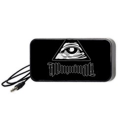 Illuminati Portable Speaker (black) by Valentinaart