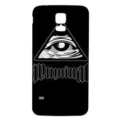Illuminati Samsung Galaxy S5 Back Case (white) by Valentinaart