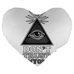 Illuminati Large 19  Premium Heart Shape Cushions by Valentinaart